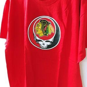 Grateful dead Chicago Blackhawks tshirt